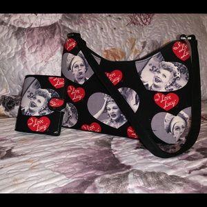 I Love Lucy purse set